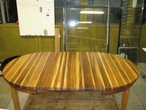 alm bord oljat med inläggsskiva